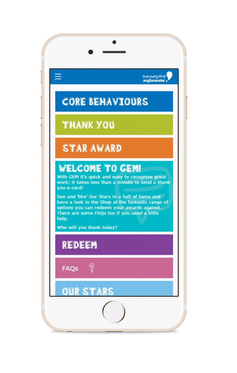Anglian Water Staff Recognition App