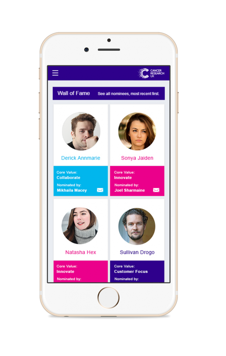 Cancer Research Staff Recognition App